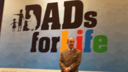 Gregory W. Slayton speaking at the Dads for Life Conference