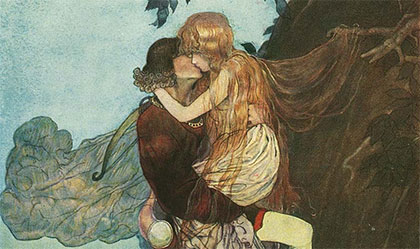 A Gustaf Tenggren illustration in an 1823 edition of Grimm's Fairy Tales (via Animation Resources)